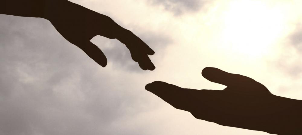 Ausgestreckte Hände
