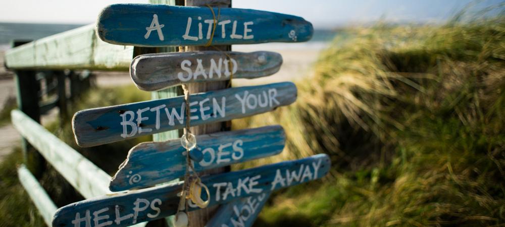 Wegweiser Strand: Kleines Glück