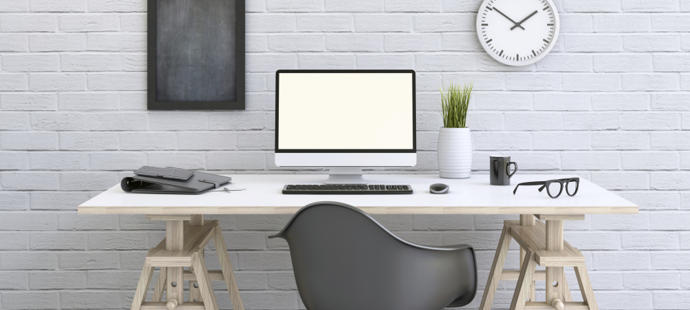 Ordentlicher Design-Schreibtisch