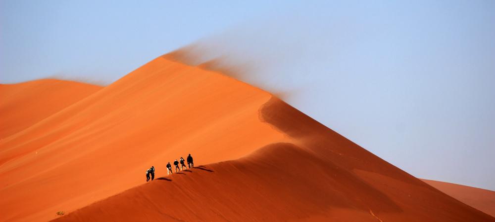 Karawane in der Wüste