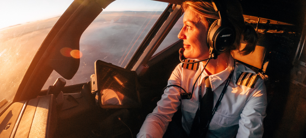 Pilotin Maria Pettersson