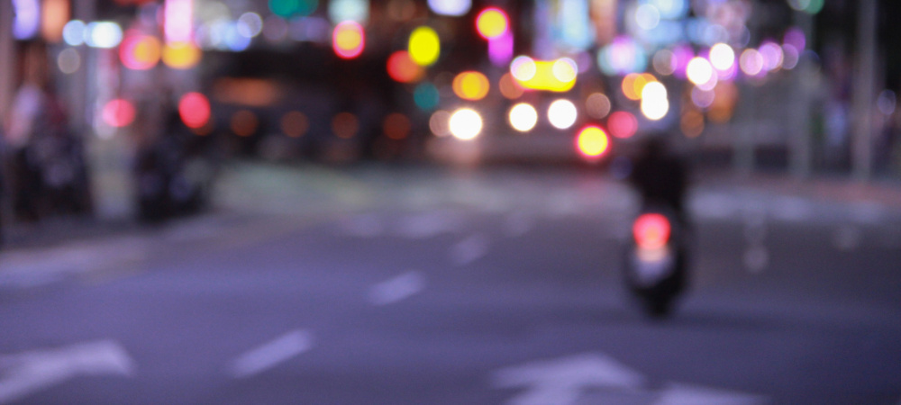 Nachts Autofahren City