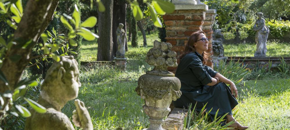 Hermès parfümeurin Christine Nagel in Venedigs Garten Il Giardino Eden