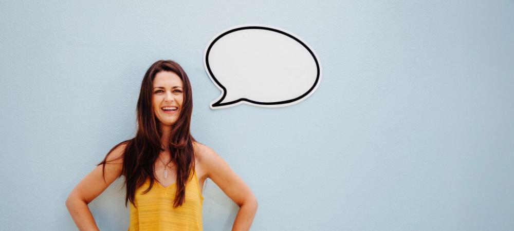 Frau in Kommunikation