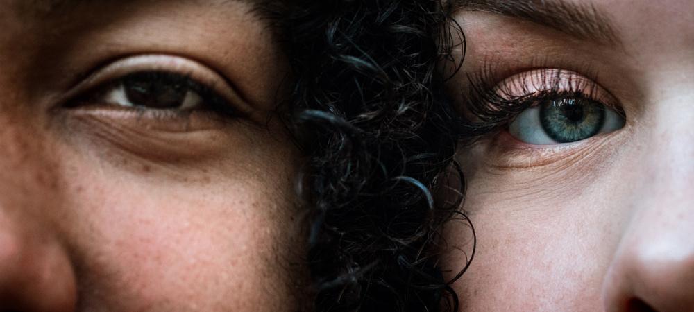 Mann und Frau, Gesicht an Gesicht