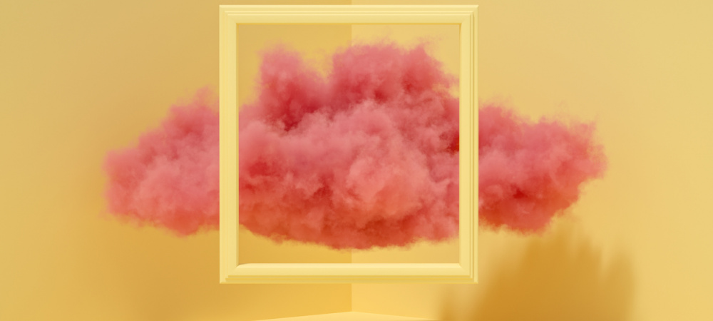 Pinke Wolke im Rahmen – Träume bewusst steuern