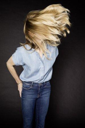 Stefanie Graf mit fliegenden Haaren