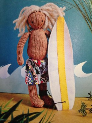 "Strickpuppe ""Surfer"""