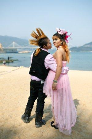 Lesbisches Pärchen in Hongkong