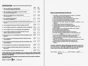 Dokumente der Hausangestellten in Hongkong