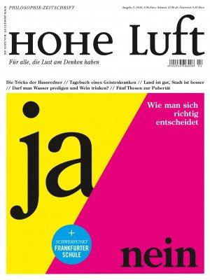 HOHE LUFT Cover 2-2016: Ja / Nein