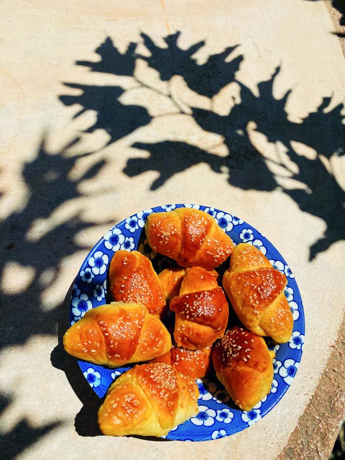 Croissants mit Joghurt
