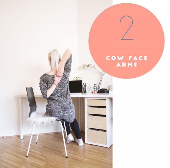 Yoga: Cow face arms