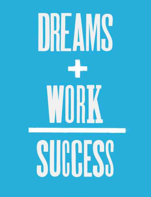 Dreams+Work/Success