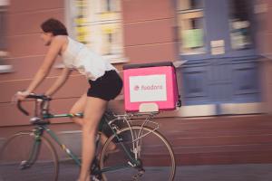 Foodora-Auslieferung mit dem Fahrrad