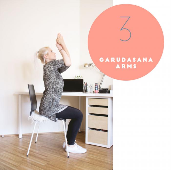 Yoga: Garadusana arms