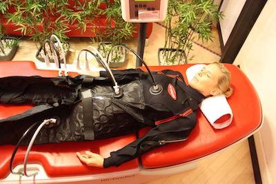 Mareile Braun beim Hypoxi-Training
