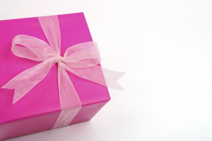 Geschenk Pink Schleife