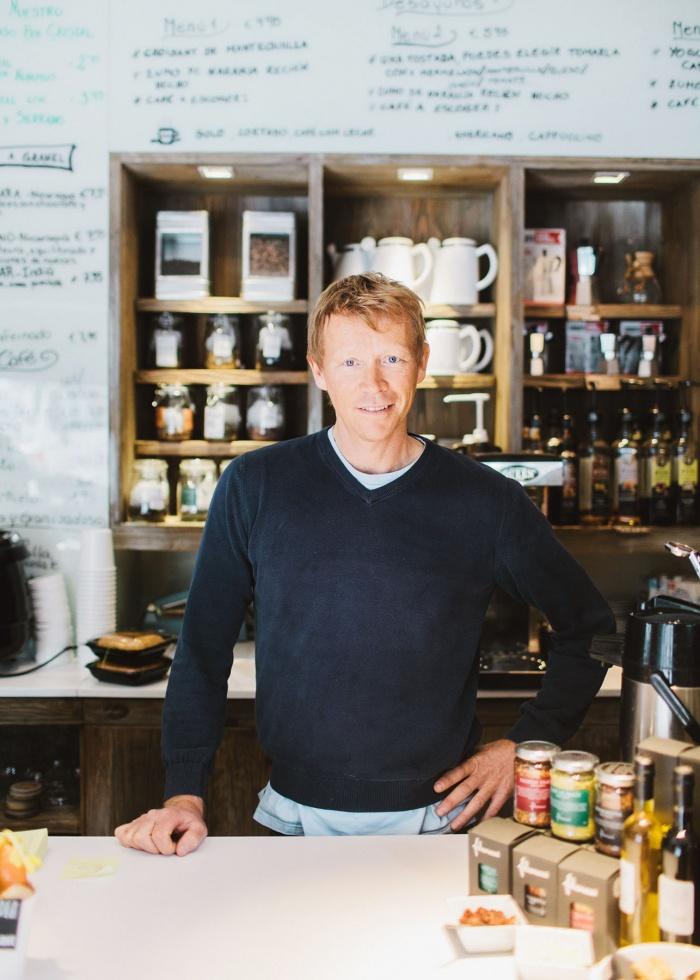 Cafébesitzer John Kristianson