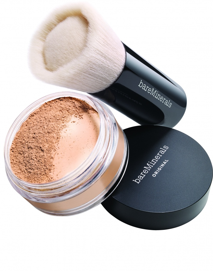 Bare Minerals Foundation und Pinsel