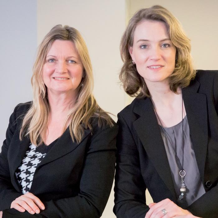 Gudrun Jostes und Kerstin Hoffmann-Wagner