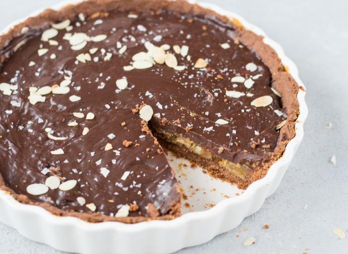 Schokoladen-Florentiner-Tarte