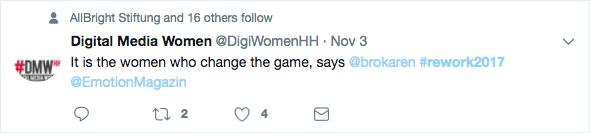 Tweet rework 2017: DMW