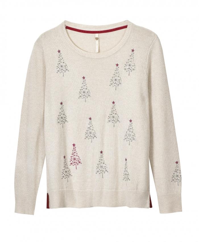 Christmas Tree Jumper von White Stuff