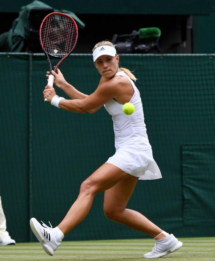 Angie kerber auf dem Tennisplatz