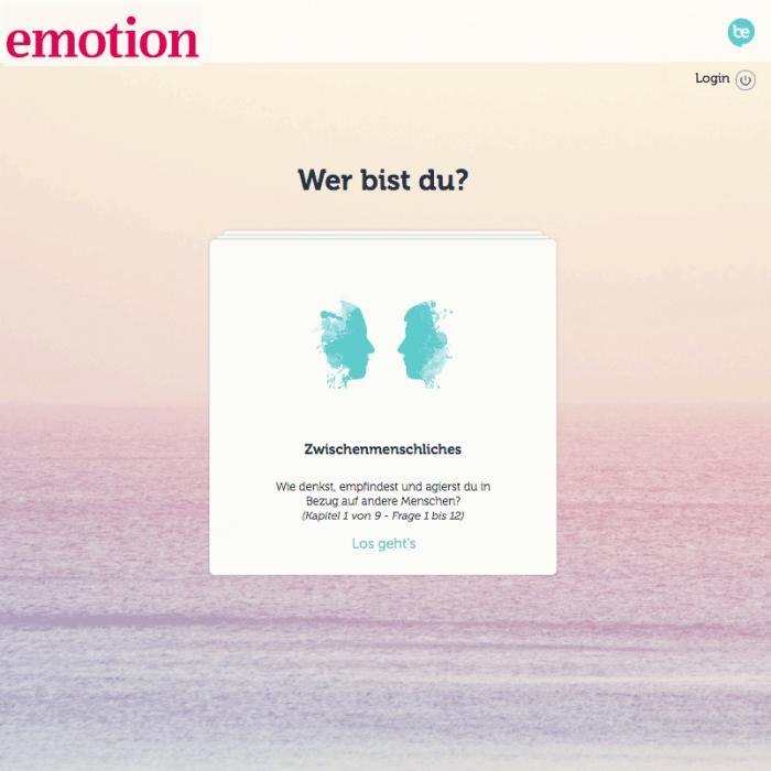 EMOTION.DE BeBrilliant Persönlichkeitstest