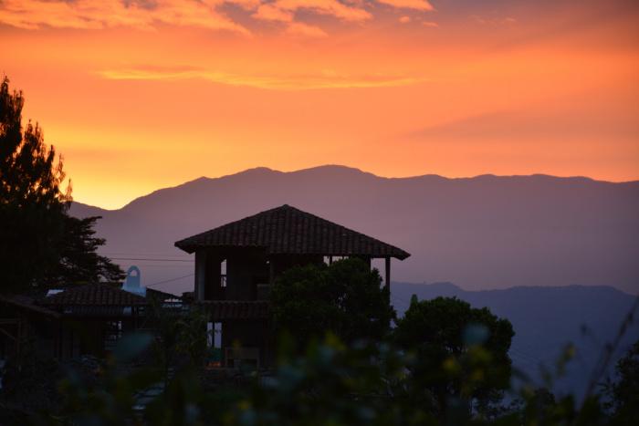 Kolumbien: Sonnenuntergang