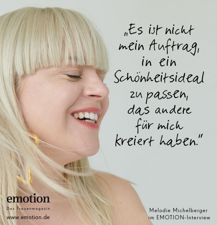 Melodie Michelberger Zitat Schönheitsideal