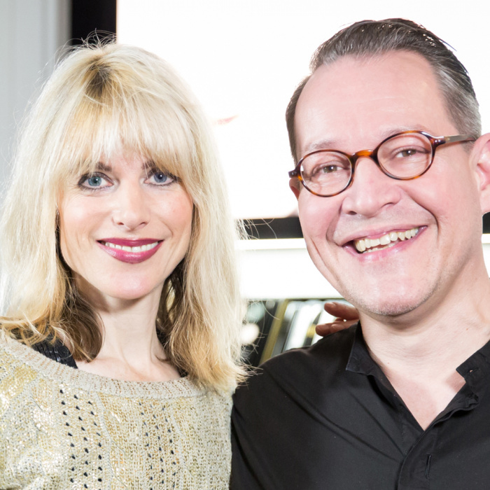 Dr. Rebekka Reinhard und Chanel Makeup-Artist Martin Schmid