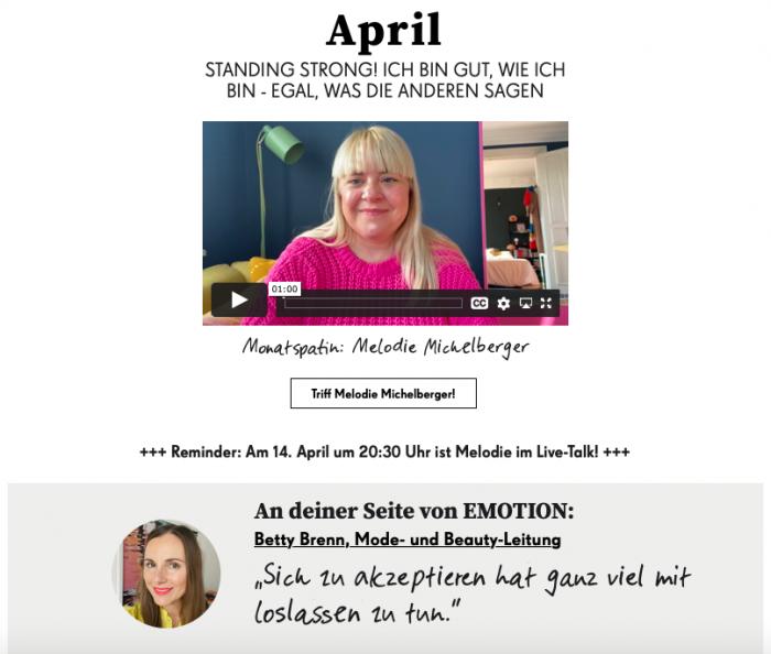 EMOTION for me - im April