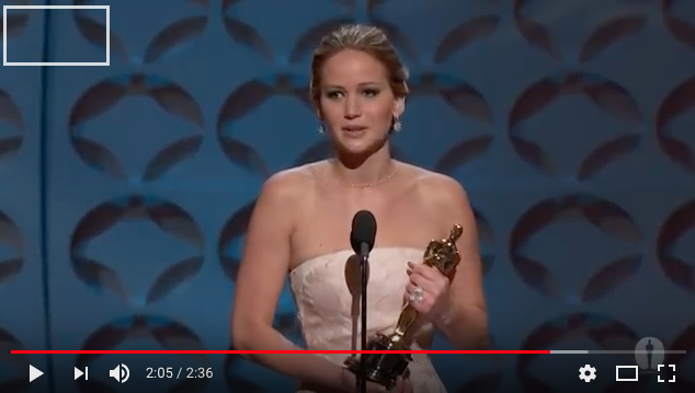 """Jennifer Lawrence gewinnt in der Kategorie """"beste Schauspielerin"""""""
