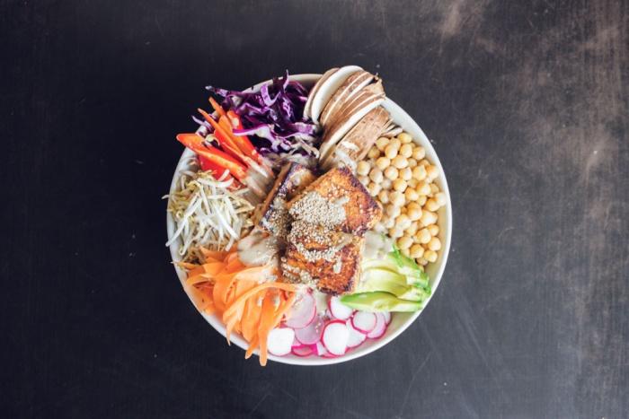 Buddha-Bowl Abendessen