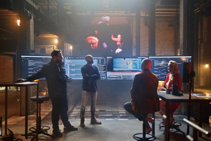 Filmproduktion, das Filmteam bei der Arbeit