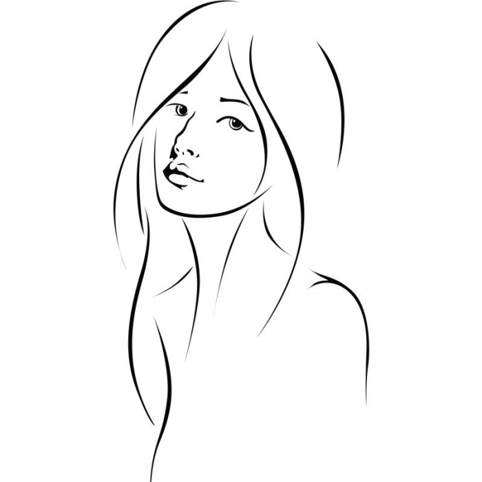 gezeichnete Frau