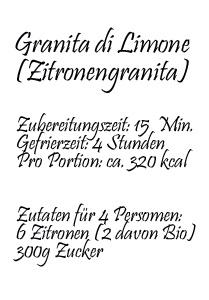 Rezept: Granita