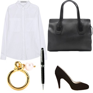 Outfit: Bankerin