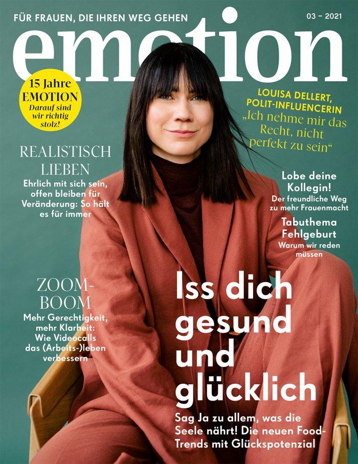 EMOTION Magazin März 2021 mit Louisa Dellert