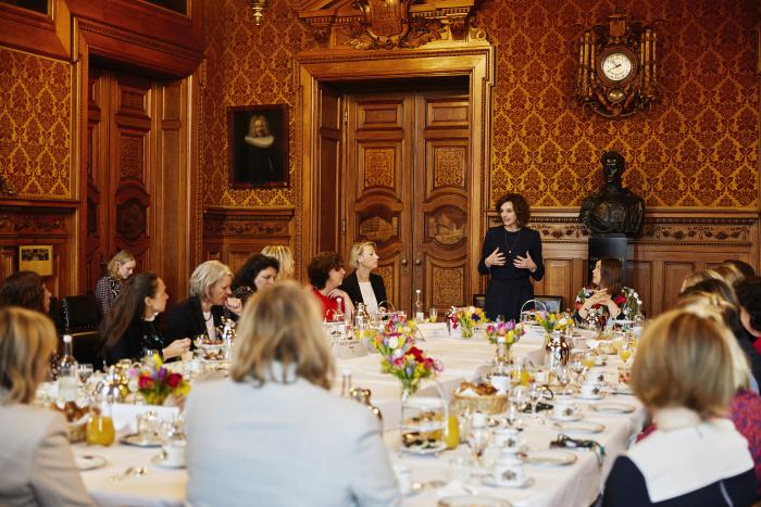 Weltfrauentag: Frühstück im Hamburger Rathaus