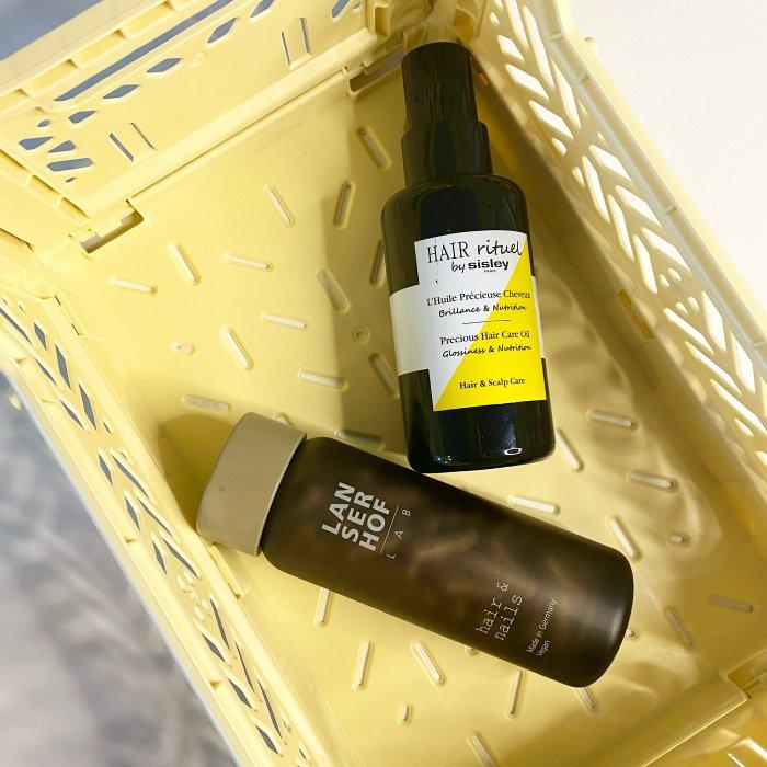 Nahrungsergänzungsmittel von Lanserhof und Haaröl von Sisley