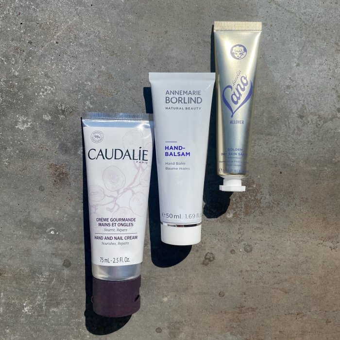 Hand & Nail Cream von Caudalie, Handbalsam von Annemarie Börlind, Golden Dry Skin Salve von Lano