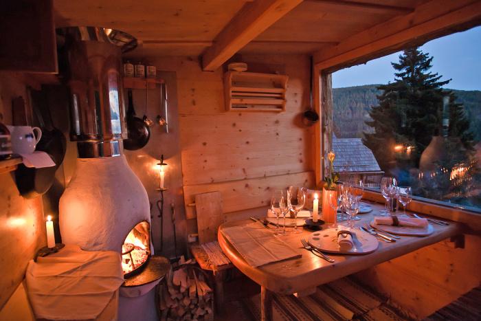 Almdorf Seinerzeit Holzknechthütte