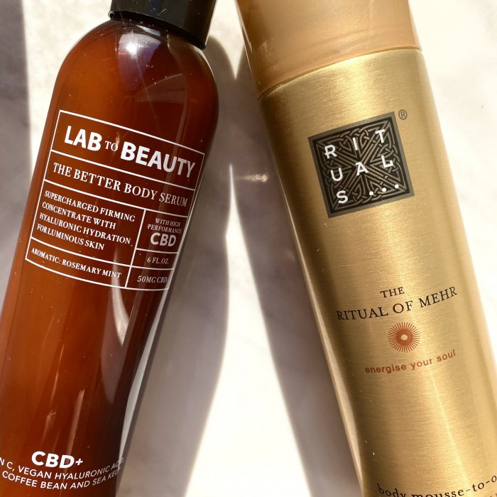 The Better Body Serum von Lab to Beauty und The Ritual of Mehr Body Mousse-to-oil