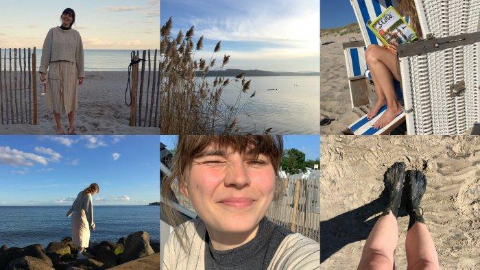 Nina am niederländischen Wattenmeer