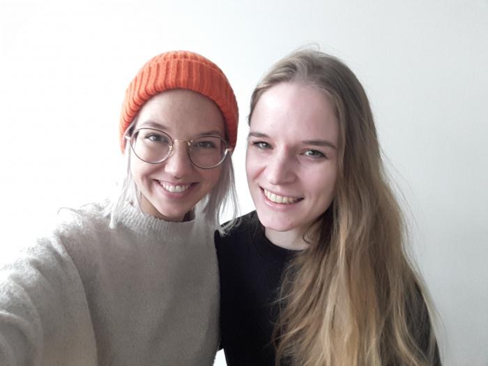 Stefanie Heinzmann mit EMOTION-Volontärin Imke