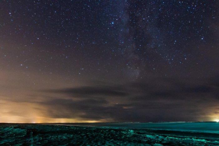 Sternenhimmel niederländisches Wattenmeer
