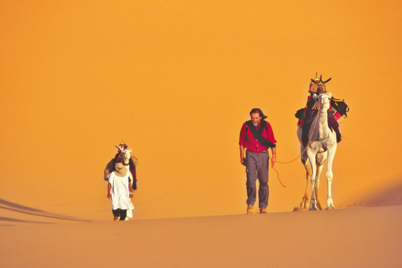 Achill Moser in der Wüste